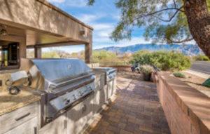 outdoor kitchen desert oasis-in-tucson featuring naturekast